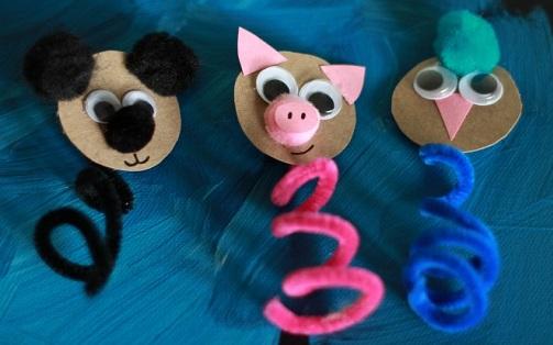 Spring Finger Puppets
