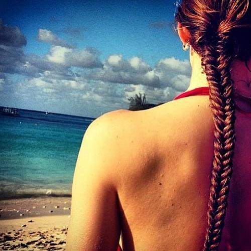 The Summer Tight Fishtail Braid Look