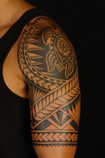 Muscular Arms Mayan Tattoo Design