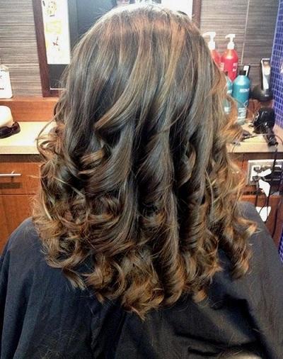 Brown U Cut with Curls