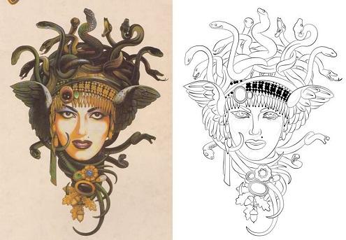 Stunning Medusa Tattoo Designs