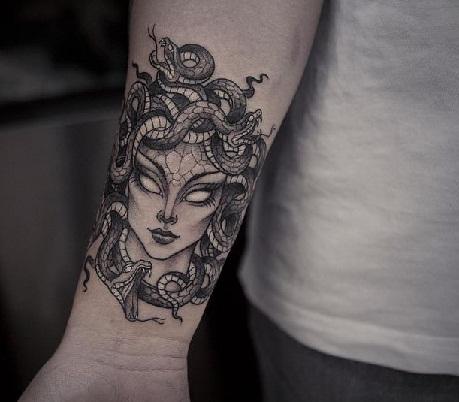 Medusa Hand Wrist special Tattoo Designs