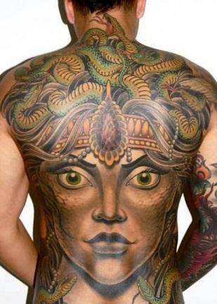Artistic style Medusa Tattoo Designs