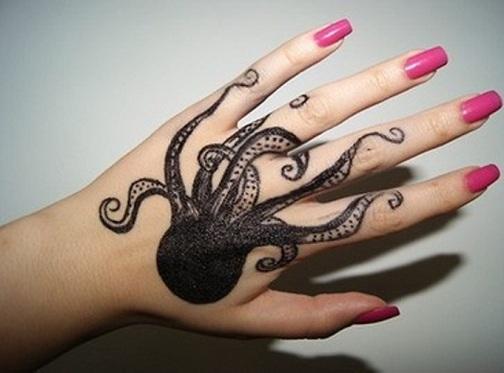 Scary Octopus Tattoo Design