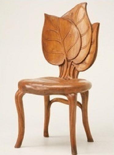 Back Leaf Wooden Chair
