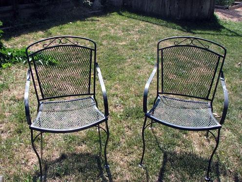 Steel Patio chairs