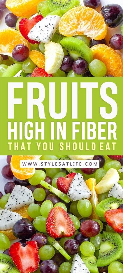 Fruits High In Fiber That You Should Eat