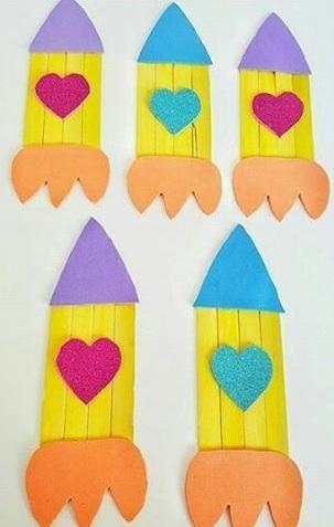 Candy Stick Rocket Transportation Craft