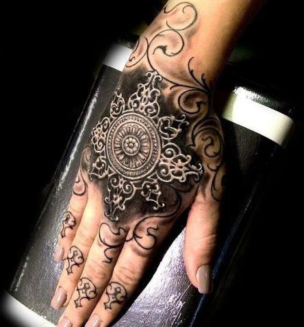 Hand Special Baroque Tattoo
