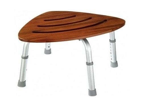 wood corner bathroom stool