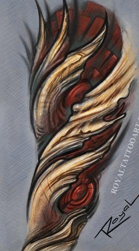 Cute Bio organic Tattoo Design
