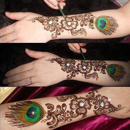 Bombay style mehndi designs1