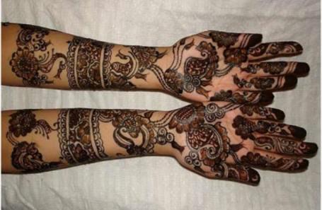 Bombay style mehndi designs7