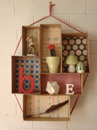 Cardboard Wall Shelf