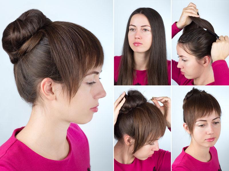 Chignon Bun Hairstyles 4