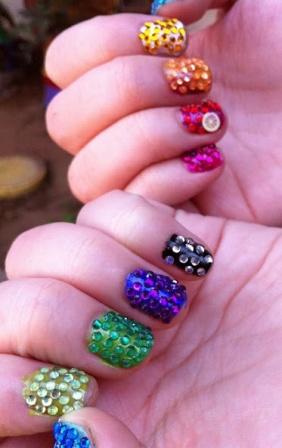 9 Best Crystal Nail Art Designs