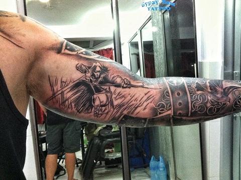 Fantasy Archer Tattoo