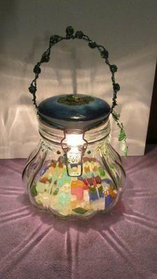 Sea Glass Lantern Craft