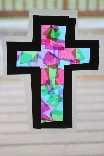 Tissue Paper Glass Craft