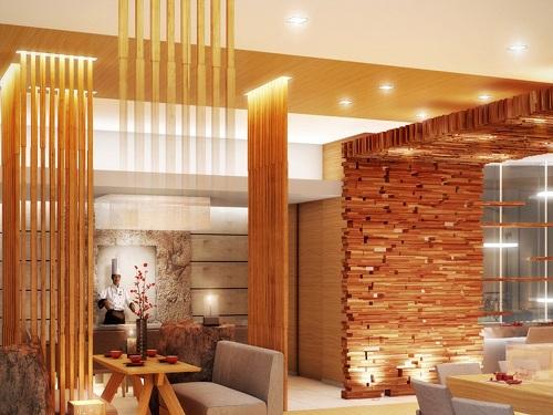 Stick Wall Woodwork Design