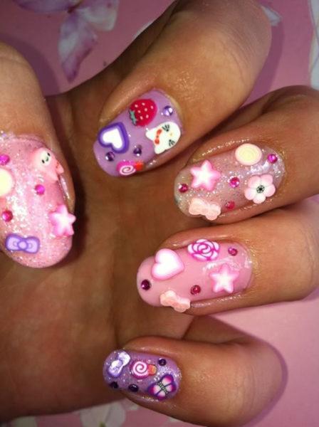 Kawaii Fimo nails art
