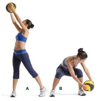 Medicine Ball Exercises - Lumberjack or Wood Chop
