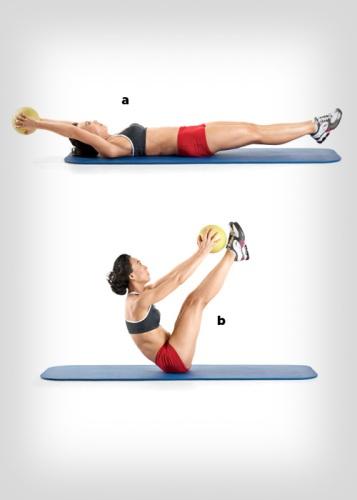 medicine ball exercises - V-Ups