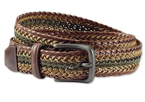Tri- color Braided Belt