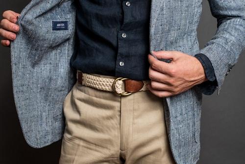 Braided white belt