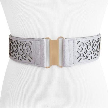 Womens Cut Out Stretch Belt
