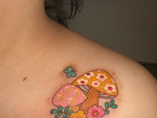 mushroom tattoo designs