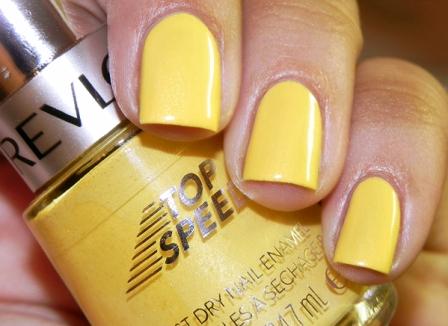Yellow Nail Paint Design