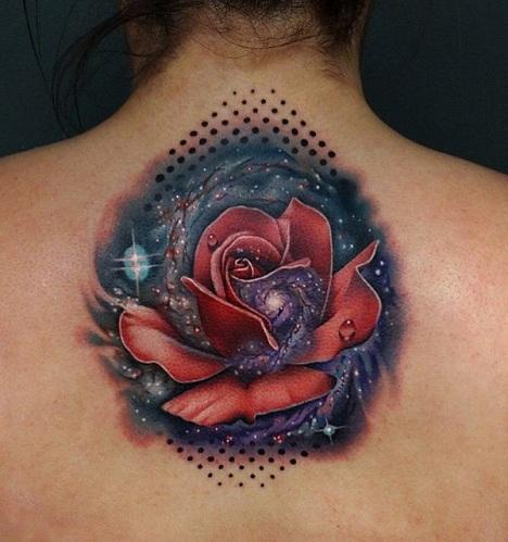 Modern Pattern Galaxy Tattoo