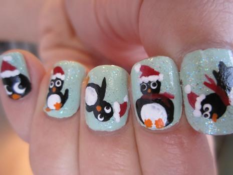 penguin nail designs8