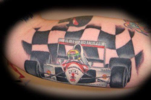 Sensational Racing Tattoo Design