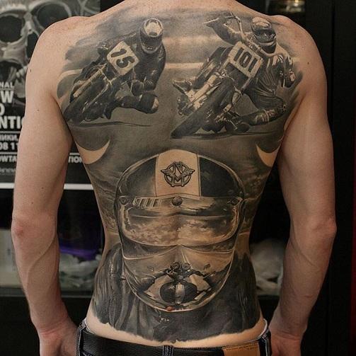 Marvellous Racing Tattoo Design