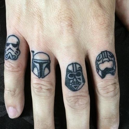 Hand Star Wars Tattoo