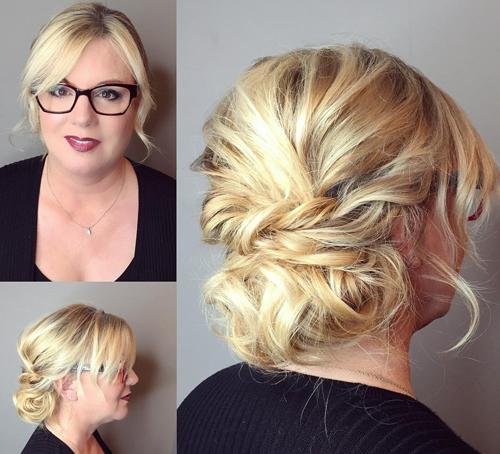 Shaggy Up-do Summer Wedding Hairstyle