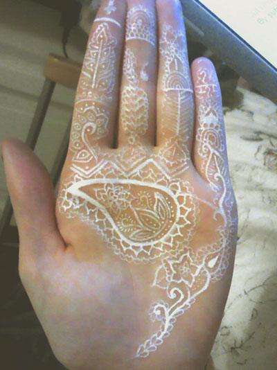 white henna designs 3