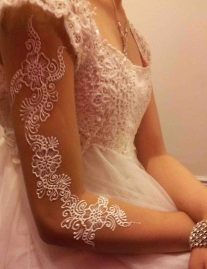 White Henna Designs