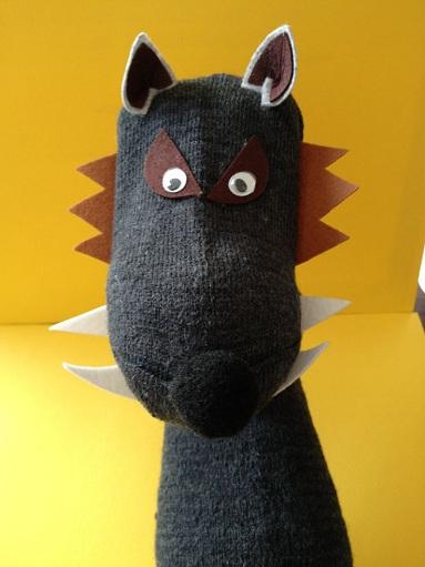 Finger Sock Puppet Wolf Crafts