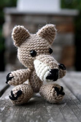 Woollen Crochet Wolf Crafts
