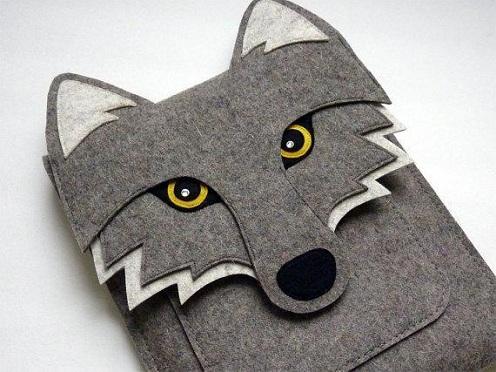 I-pad Sleeve Wolf Felt Crafts