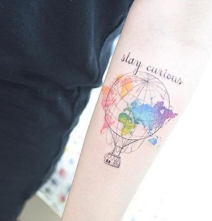 Spectacular World Map Tattoo Designs