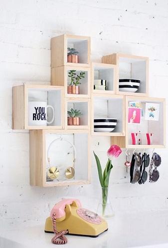 9 Best and Cool Bedroom Accessories - Bedroom Box Shelves