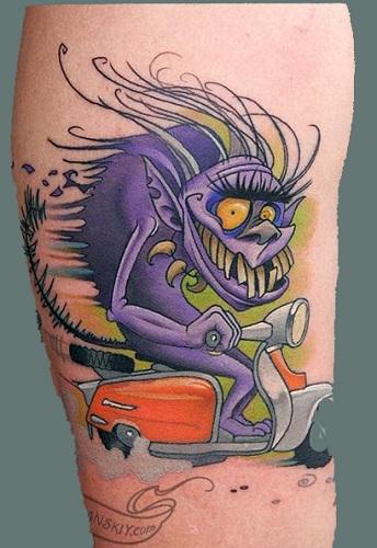 Funky Monster Tattoo Design