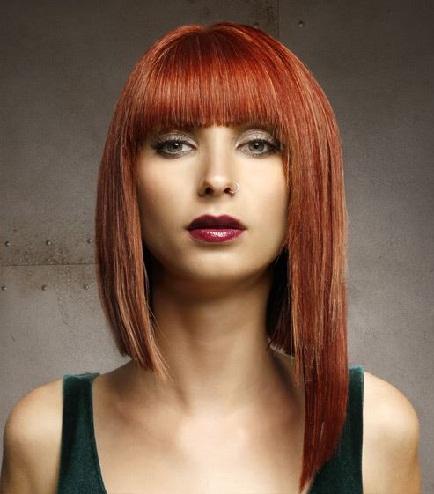 Asymmetrical Short Hair with Bangs