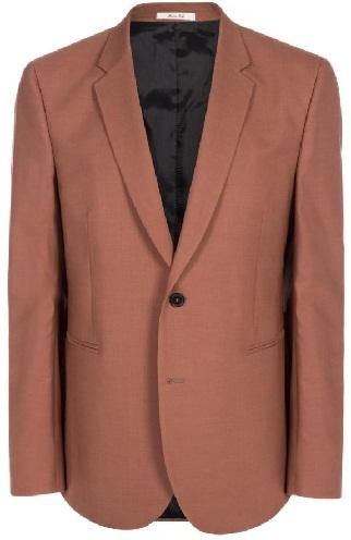 Brown Crepe Blazer