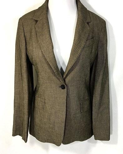 Brown Textured Blazer For Women