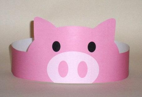 Paper Crown Pigs Crafts